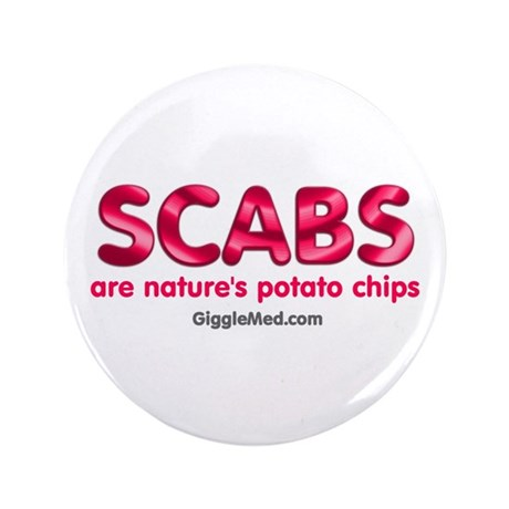 """Scabs Natures Potato Chips 3.5"""" Button"""