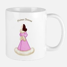 Brunette Prima Donna in Pink Robe Mug