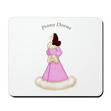 Brunette Prima Donna in Fancy Pink Robe Mousepad