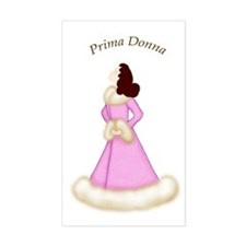 Brunette Prima Donna in Pink Robe Decal