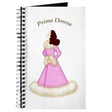 Brunette Prima Donna in Pink Fur Trim Robe Journal