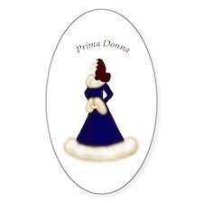 Brunette Prima Donna in Midnight Blue Robe Decal