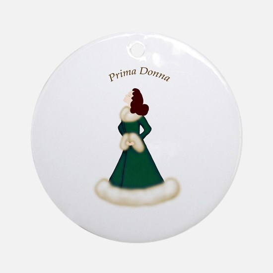 Brunette Prima Donna in Green Robe Ornament