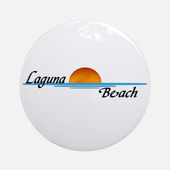 Laguna Beach Sunset Ornament (Round)