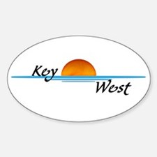 Key West Sunset Oval Decal