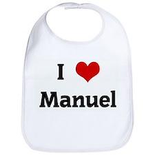 I Love Manuel Bib