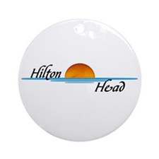 Hilton Head Sunset Ornament (Round)