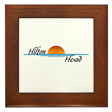 Hilton Head Sunset Framed Tile