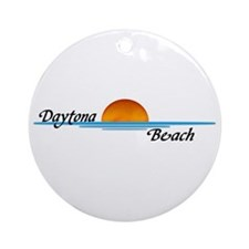 Daytona Beach Sunset Ornament (Round)