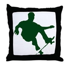 BOARDER IN GREEN Throw Pillow