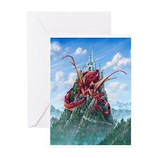 Cute Dragon on castle Greeting Card