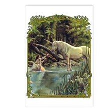 Unicorn in Woods Postcards (Package of 8)