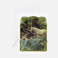 Unicorn in Woods Greeting Card