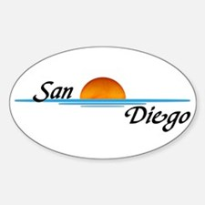 San Diego Sunset Oval Decal
