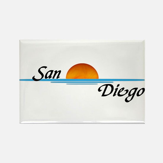 San Diego Sunset Rectangle Magnet