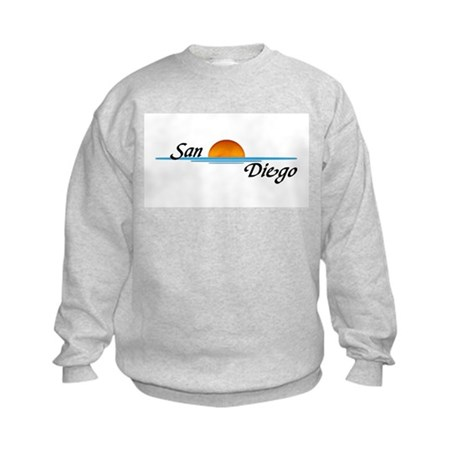San Diego Sunset Kids Sweatshirt
