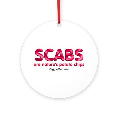 Scab Potato Chips Ornament (Round)