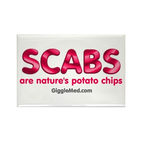 Scab Potato Chips Rectangle Magnet (100 pack)