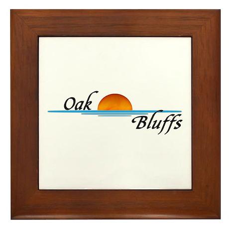 Oak Bluffs Sunset Framed Tile