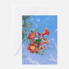 Trumpet Vine Gnome Greeting Card