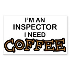 Inspector Need Coffee Rectangle Decal