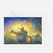 Snail-Parade-cropped Greeting Cards