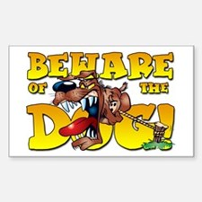 Beware Of The Dog! Rectangle Decal