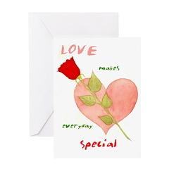 Valentine Card Love makes everyday Special - Blank