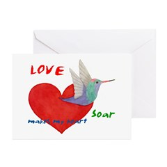 Valentine's Cards-Love makes my heart.. (Pk of 10)