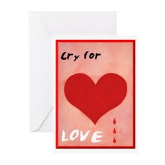 Valentine's Card - Cry for Love (Pk of 10)