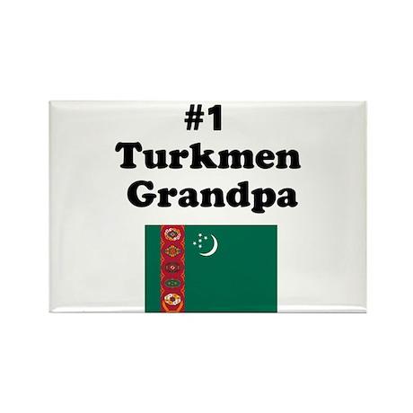 #1 Turkmen Grandpa Rectangle Magnet