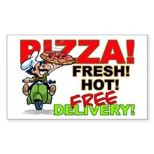 Pizza Sign Rectangle Decal