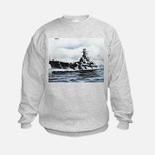 USS Alabama Ship's Image Sweatshirt