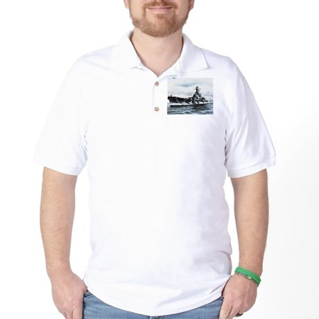 USS Alabama Ship's Image Golf Shirt