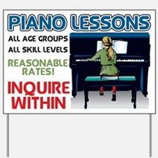 Piano Lessons Sign Yard Sign