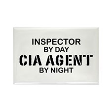 Inspector CIA Agent Rectangle Magnet