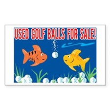 Golf Balls For Sale Sign Rectangle Decal