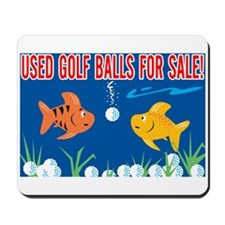 Golf Balls For Sale Sign Mousepad