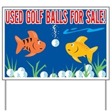 Golf Balls For Sale Sign Yard Sign