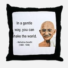 Gandhi 15 Throw Pillow