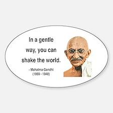 Gandhi 15 Oval Decal