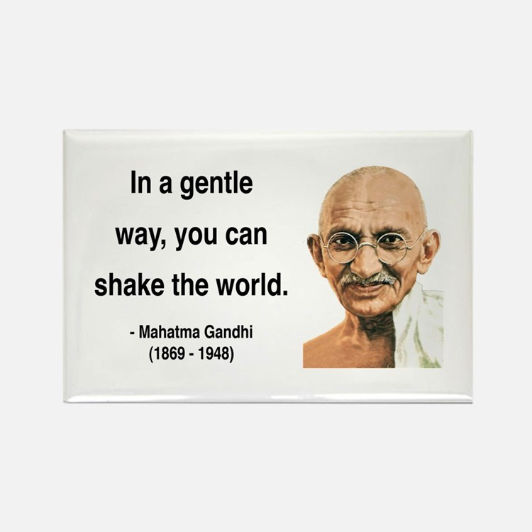 Gandhi 15 Rectangle Magnet (10 pack)