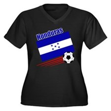 Honduras Soccer Team Women's Plus Size V-Neck Dark