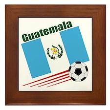 Guatemala Soccer Team Framed Tile