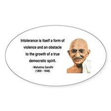 Gandhi 16 Oval Decal