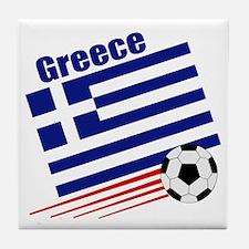 Greece Soccer Team Tile Coaster