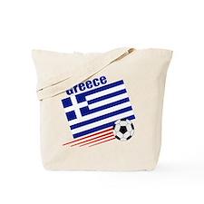 Greece Soccer Team Tote Bag