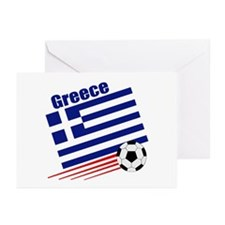 Greece Soccer Team Greeting Cards (Pk of 10)