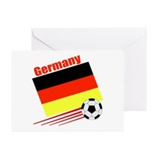 Germany Soccer Team Greeting Cards (Pk of 10)