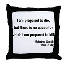 Gandhi 17 Throw Pillow